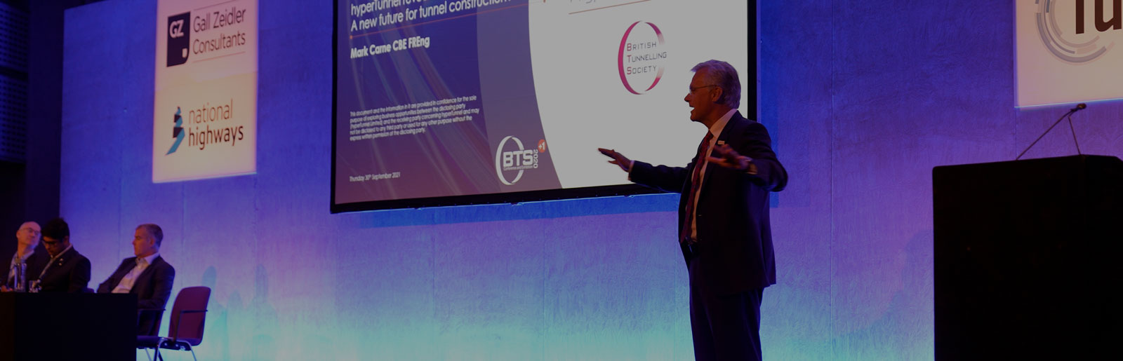 Chairman Mark Carne reveals hyperTunnel's methodology at the BTS conference